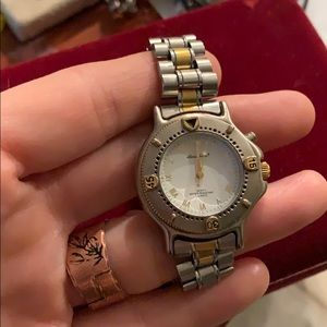Eddie Bauer ladies two tone watch with light